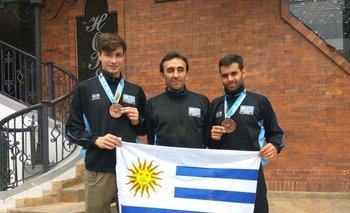Mateo Ferreira, Mayko Votta y Federico González tras sus logros en Colombia