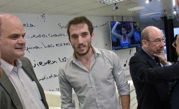 Andrés Tolosa, Emiliano Lasa y Alfredo Etchandy