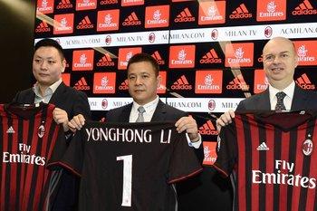 Li Yonghong invirtió 740 millones de euros en la compra del AC Milan.<br>