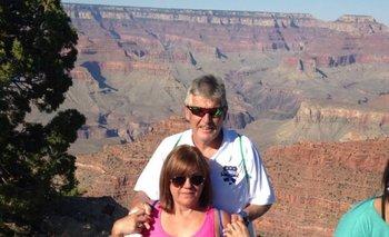 Fredy Clavijo y su esposa Hilda en el Cañón del Colorado