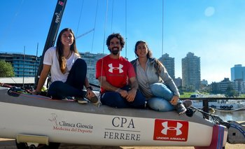 Dominique Knuppel, Pablo Defazio y Mariana Foglia