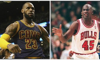 LeBron James y Michael Jordan