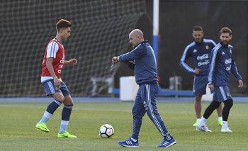 Messi ya trabaja bajo las órdenes del cuerpo técnico de Sampaoli