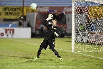 Kevin Dawson, titular en el arco de Peñarol.<br>
