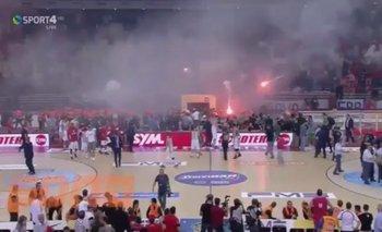 Incidentes en el básquetbol griego