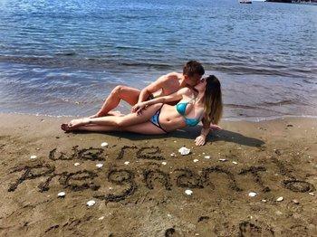 Fernando Muslera y su esposa anunciaron el embarazo