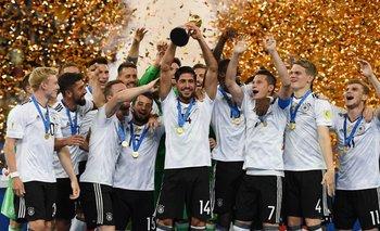El festejo de Alemania al ganar la copa que le faltaba