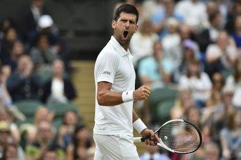 Djokovic festejó con todo el triunfo ante Mannarino