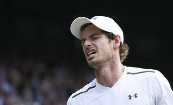 El gesto de dolor de Murray en la derrota con Querrey