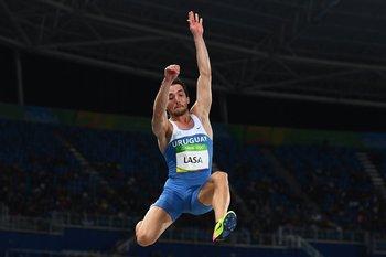 Emiliano Lasa en Londres a puro salto; el uruguayo consiguió un hito histórico.