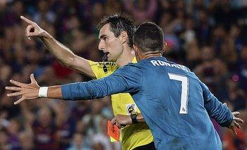 Ronaldo reaccionó tras ver la roja