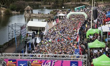 La laragda de la Half Maratón Montevideo 2017