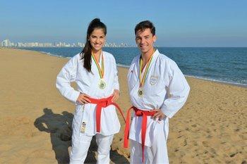 Maximiliano Larrosa en una foto de archivo junto a Magdalena Castillo