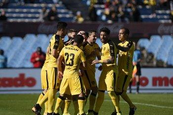 El festejo del gol del Cebolla Rodríguez