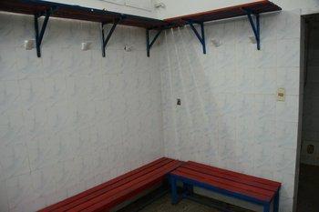 El rincón del vestuario donde se cambiaba Sebastián Abreu<br>