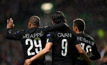 Mbappé, Cavani, Neymar Jr.