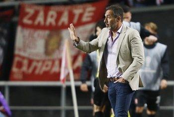 Matosas en su último partido con Estudiantes de La Plata