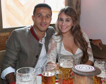 Thiago también estuvo en la fiesta de la cerveza
