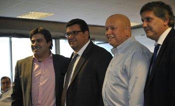 Gastón Tealdi, Jorge Barrera, José Luis Rodríguez y Pablo Durán