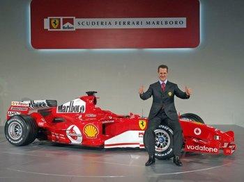 Michel Schumacher y Ferrari, una combinación que otorgó cinco títulos al alemán<br>