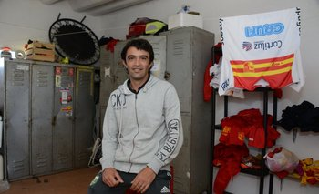 Ronald Ramírez en la utilería del Villa<br>
