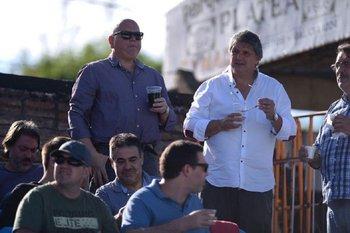 José Luis Rodríguez, Pablo Durán y Alejandro Orellano en el Parque Viera