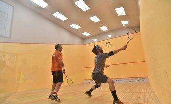 Uno de los encuentros del 8° Montevideo Squash Open