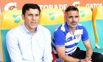 Mauricio Larriera (izq.) no seguirá en Godoy Cruz
