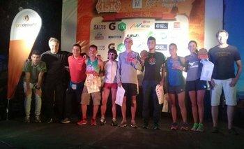 El podio de la Montevideo 15K