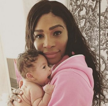 Serena y su hija Alexis Olympia Ohanian Jr.