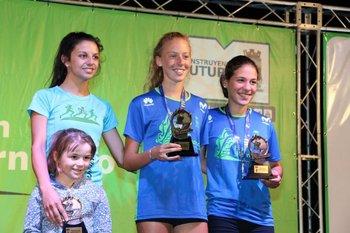 El podio femenino de 5K