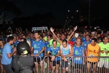 Los corredores antes de la largada