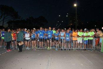 Los corredores prontos para la salida