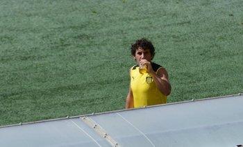 Mathías Corujo en el entrenamiento de Peñarol