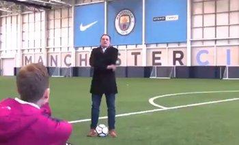 Marini en el complejo de Manchester City