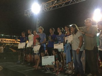 Los podios masculinos y femeninos en La Paloma