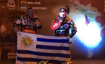 Cóppola y Lazard en el podio del Dakar 2018