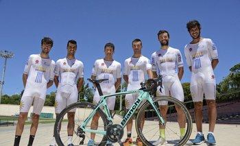La selección uruguaya para la Vuelta de San Juan en el Velódromo