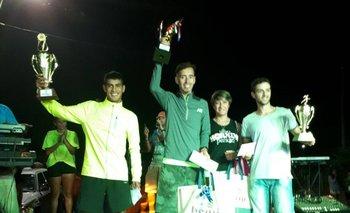 El podio masculino en Las Cañas