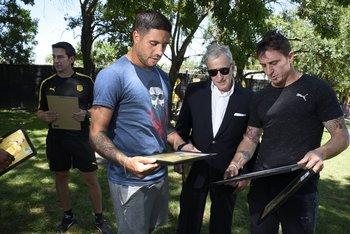 Ramón Arias, Juan Pedro Damiani y Cristian Rodríguez<br>
