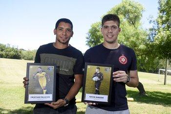 Christian Palacios y Kevin Dawson, el mejor delantero y el mejor golero de la temporada 2017 de Fútbolx100