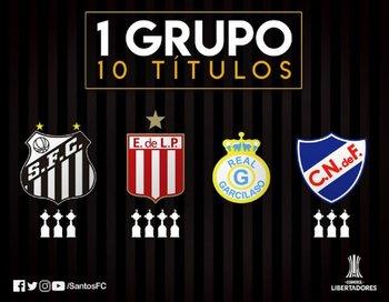 Santos destacó que el Grupo 6 es el que tiene más títulos de Libertadores