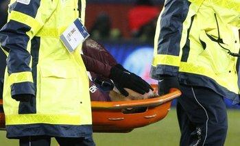 Neymar se fue en camilla