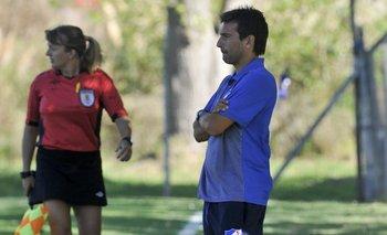 Martín Ligüera en su nueva función como entrenador