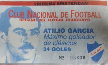 Entrada confeccionada por Nacional para el clásico del Clausura 1997<br>
