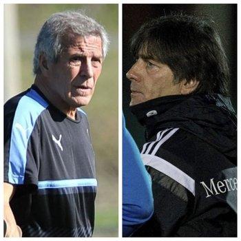 Óscar Tabárez y Joachim Löw
