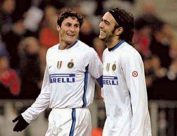 Javier Zanetti y Álvaro Recoba