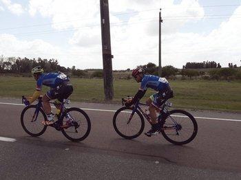 Egidio y Araujo en la fuga de la tercera etapa