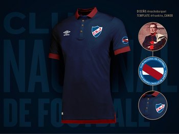 El diseño de la camiseta de Nacional que presentó Ignacio Barquet f0227c01b4d13