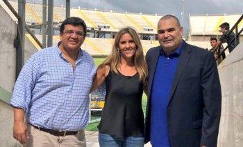 Jorge Barrera, Alessandra Mazurkiewicz y José Luis Chilavert en el CDS